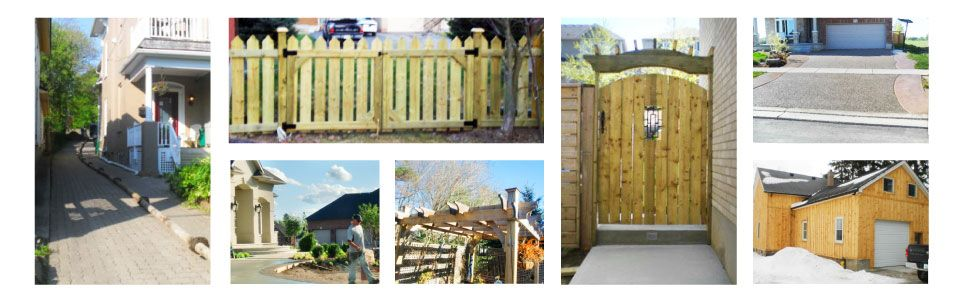 Outdoor fences and gates